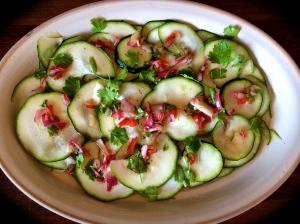 courgette ceviche salad