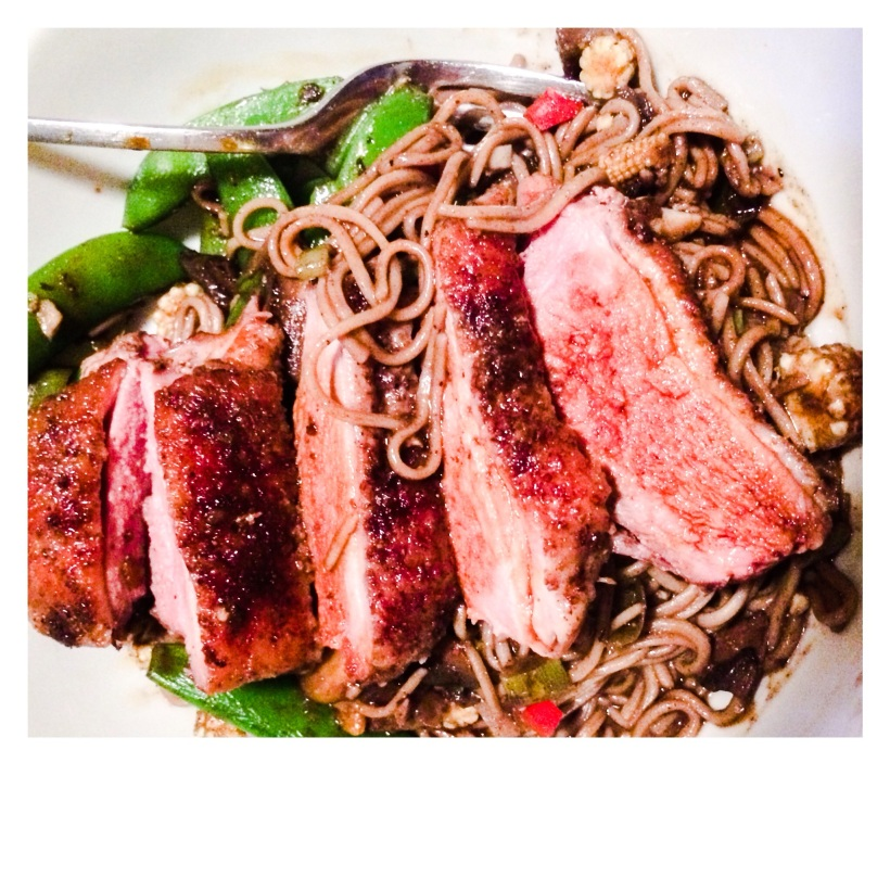 Sian Julian - Five spice duck breast soba noodles