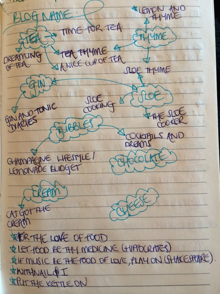 blog name scribblings in my notebook