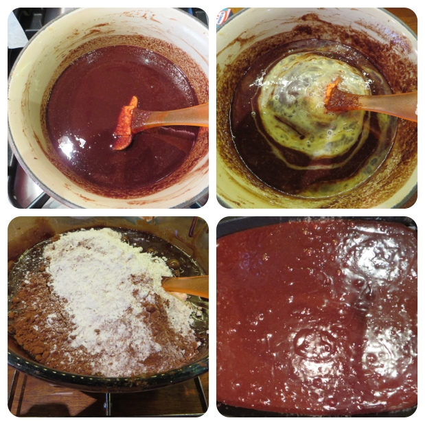brownie batter stages