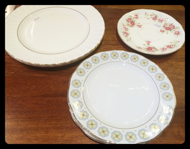 charity shop plates