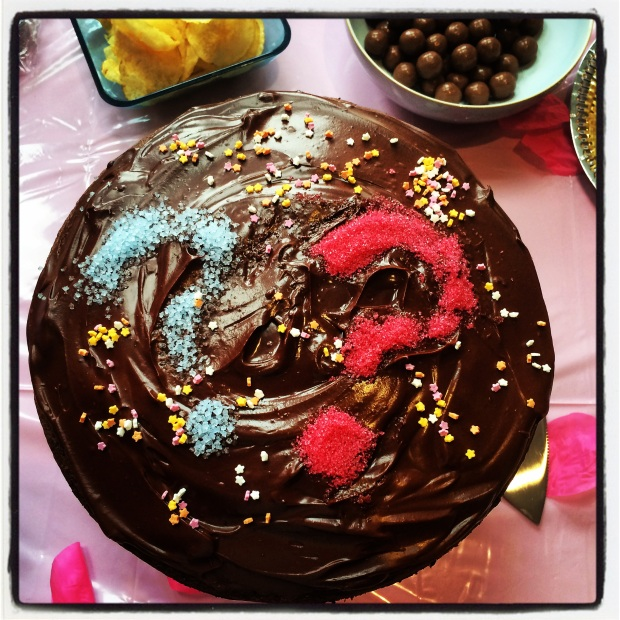 Decorated chocolate chiffon cake
