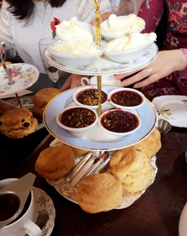 Soho Secret Tea Room - Cream tea stand