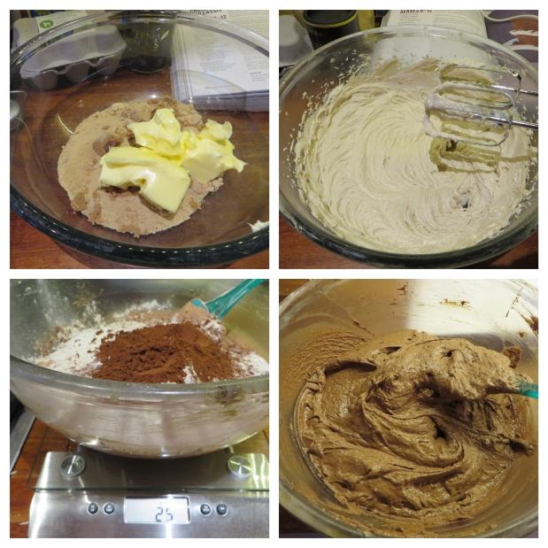 chocolate lips cake mix stages