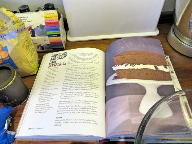 John Whaite cook book chocolate cassis cake